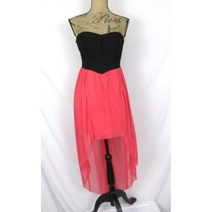 NEW Speechless Prom Party Dress Black & Pink Hi Lo